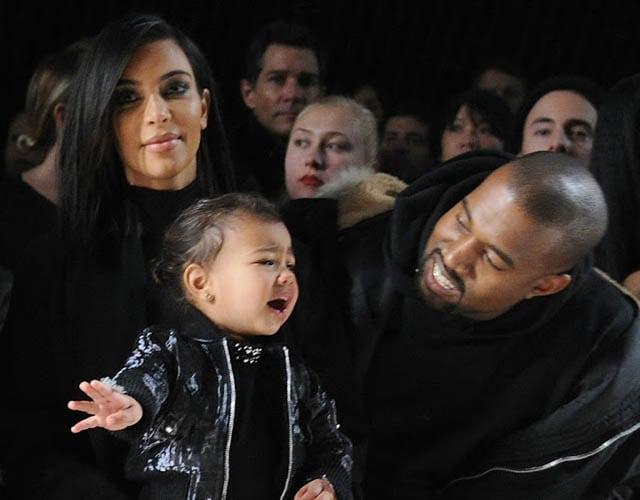Kim and Kanye and North
