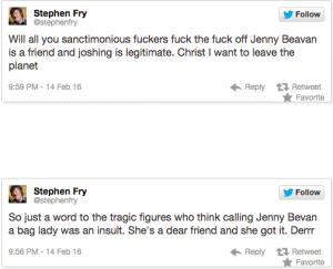 Steven Fry Tweet