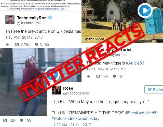 Twitter Reacts Article 50
