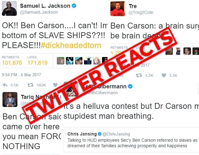twitter reacts ben carson
