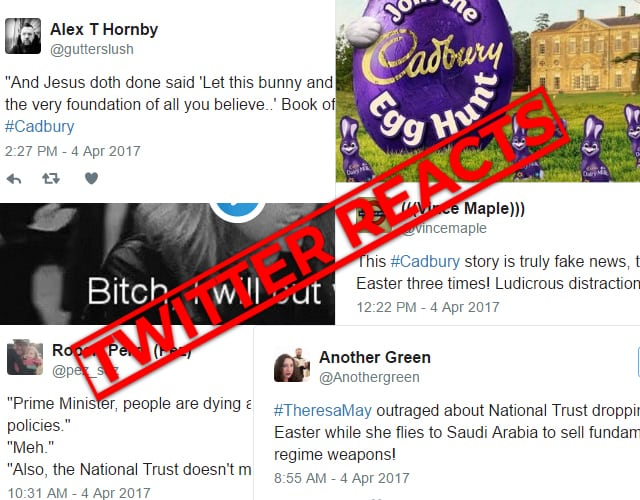 Twitter Reacts Cadbury Easter